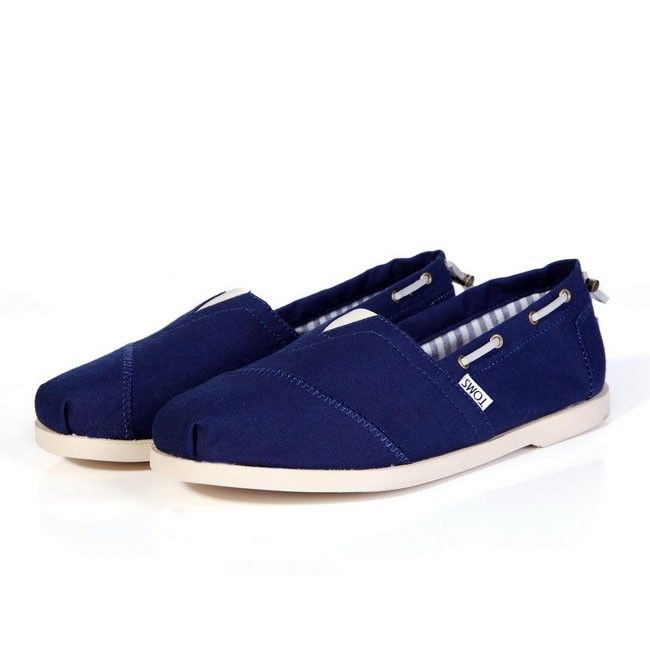 150749a0971ba Toms Casual Slip Ons Mens Classic Canvas Shoes Chambray Biminis Navy Blue