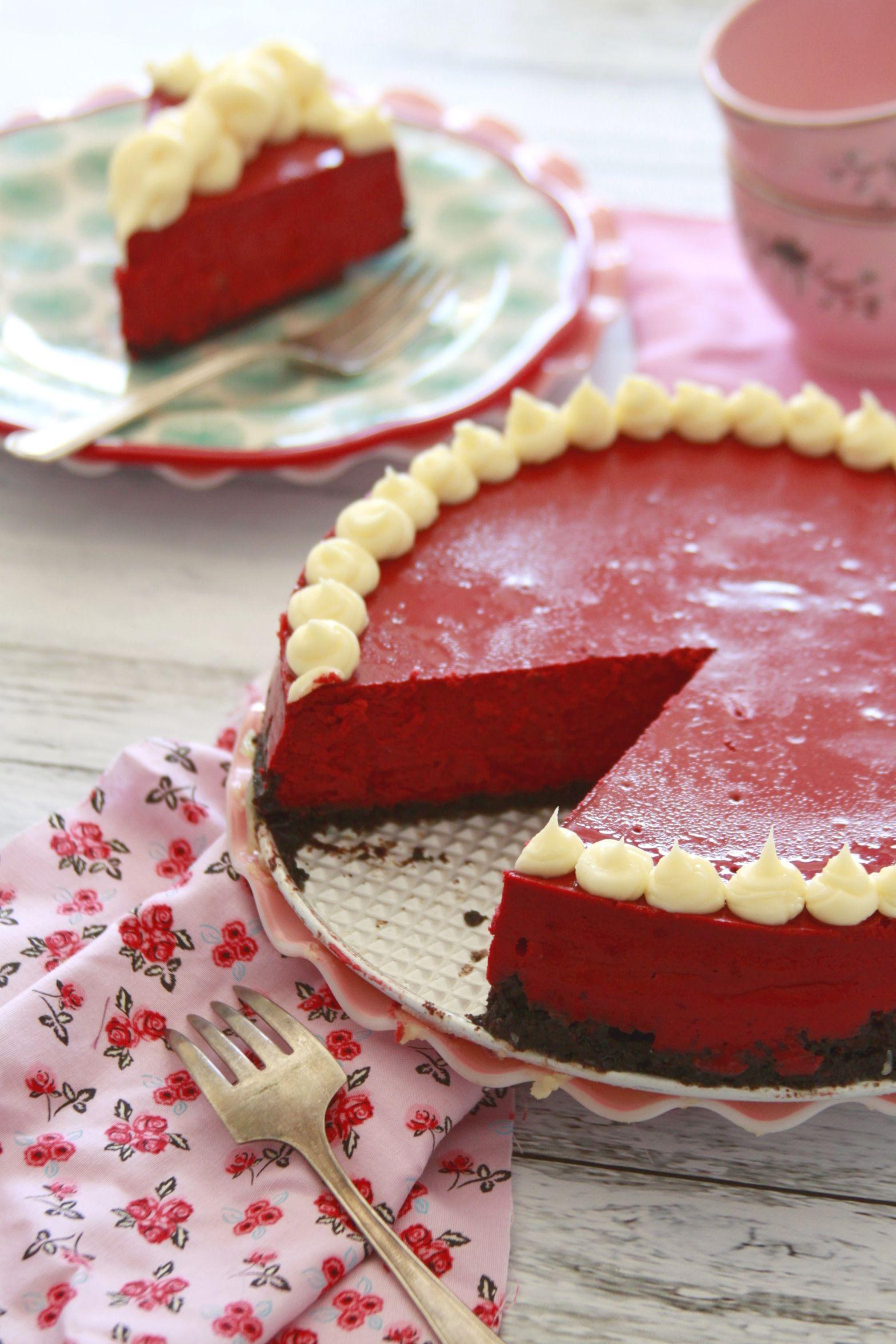 New York Style Red Velvet Cheesecake #redvelvetcheesecake