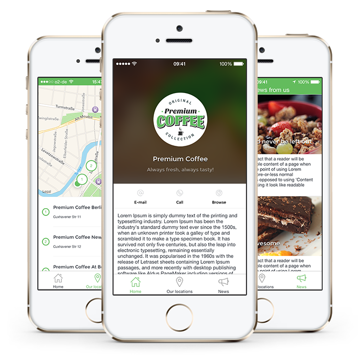 Get your free sample project with source code psds create your store locator ios app template gives you the ability to create an ios app for your franchise or discover your favorite places nearby create your ios app ccuart Images