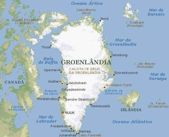 Mapa Groenlandia Pesquisa Google Greenland Arctic Ocean World
