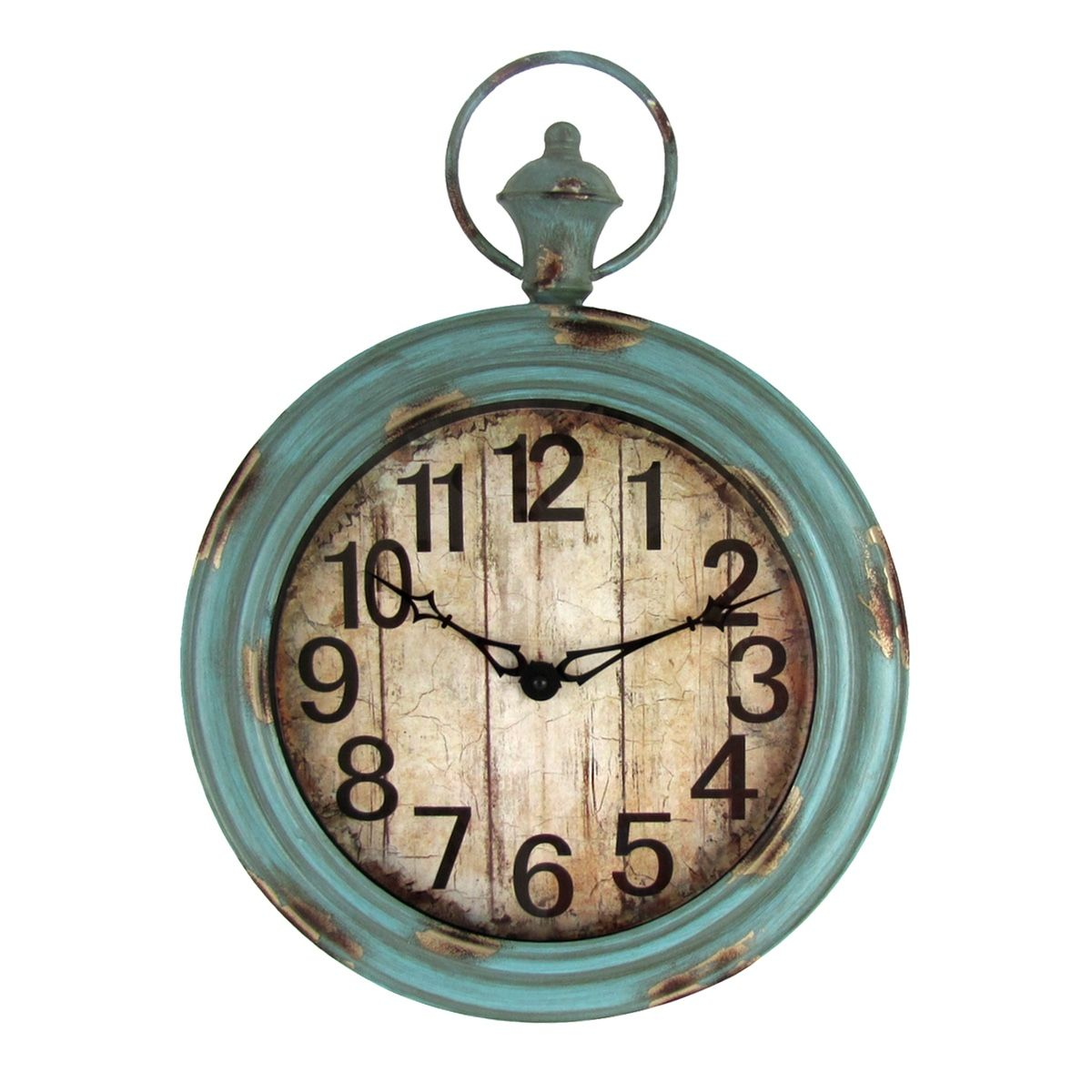 Big large indoor outdoor vintage aged shabby chic wall clock big large indoor outdoor vintage aged shabby chic wall clock pocket watch style amipublicfo Images
