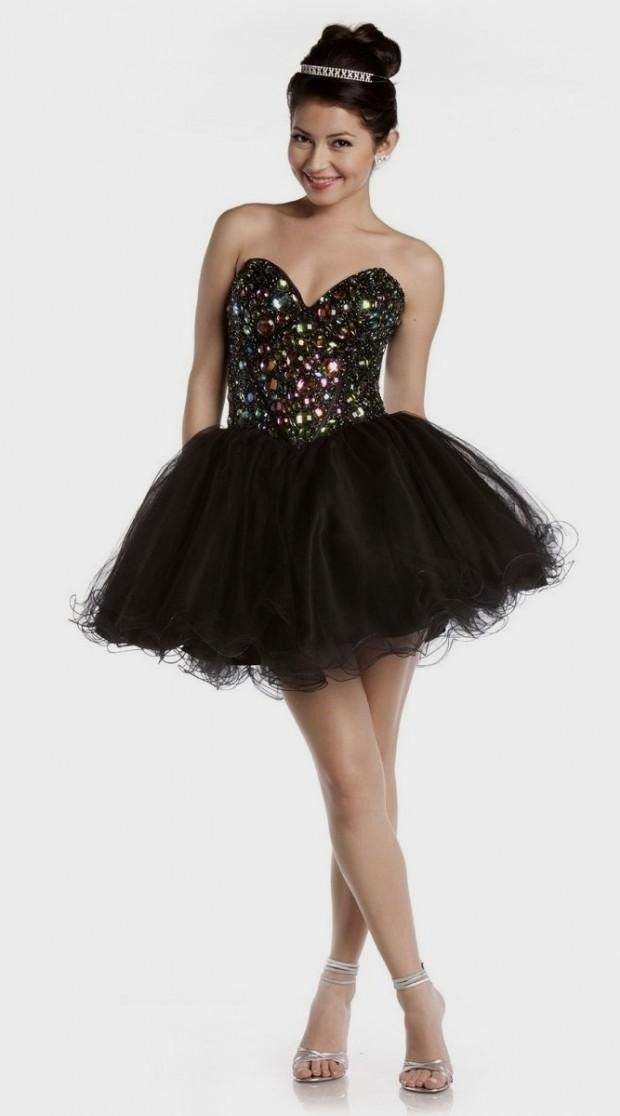55cb950dba53 Short Black Poofy Prom Dresses | Cocktail dresses on Pinterest | 94 Images  on homecoming dresses, shor .