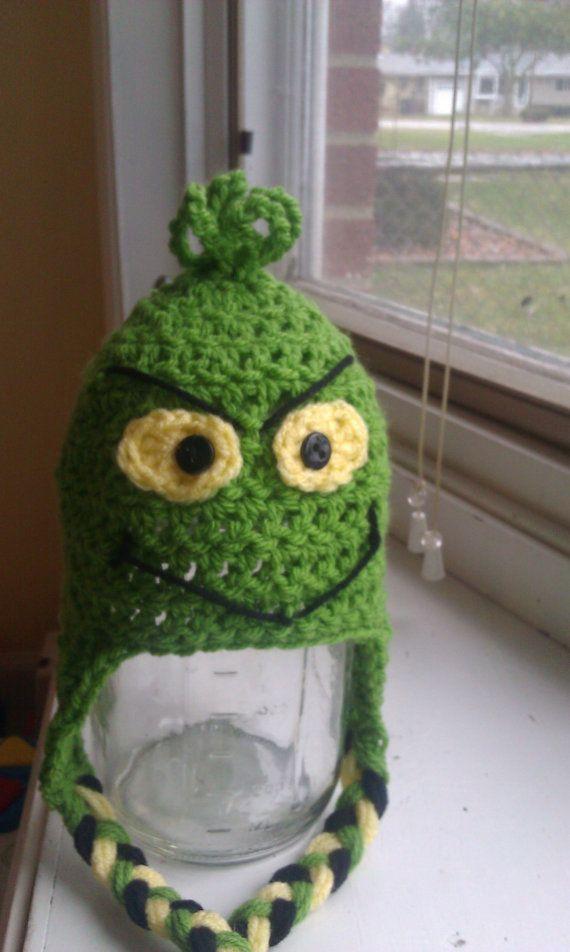 Crochet baby hat Christmas Grinch by LittlestDumplings | Baby Stuff ...