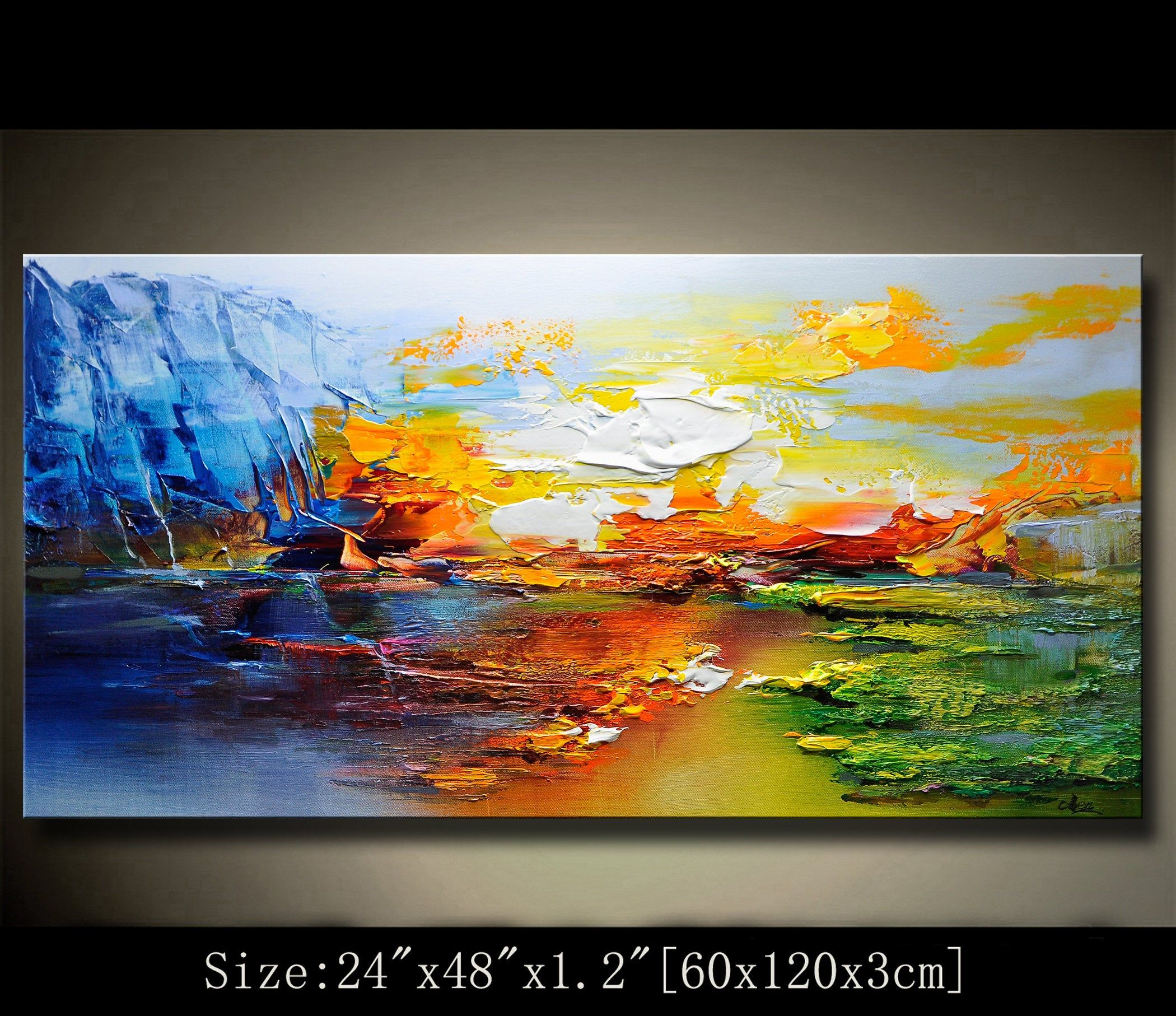 A New Type Of Abstract Wall Painting Contemporary Wall Art Impasto