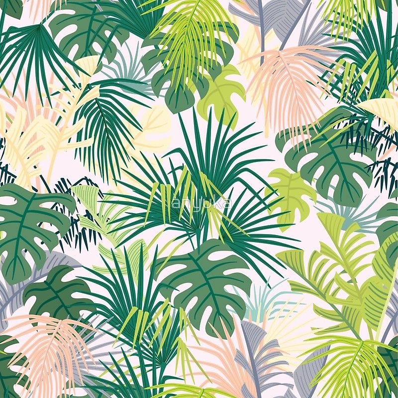 'pink jungle pattern' Poster by anyuka #junglepattern