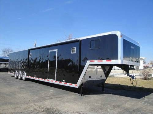 Enclosed Black 8 5 X 48 Motiv Gooseneck Car Hauler Advantage
