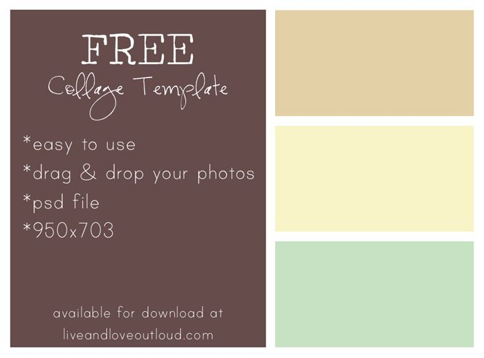 FREE, easy-to-use collage template available for download ...