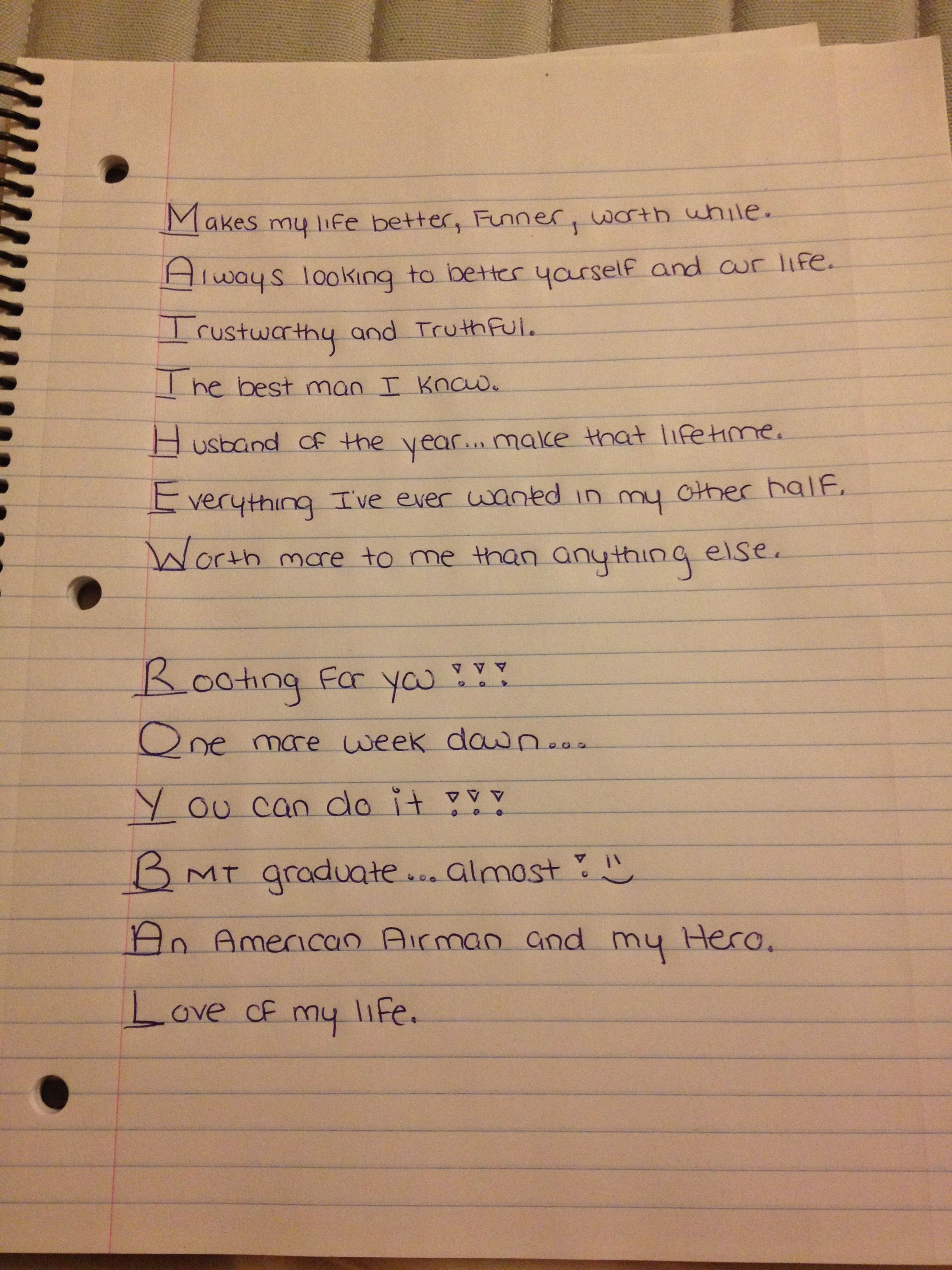I Ve Written My Husband Every Day He S Been Away At Air Force
