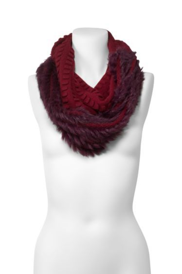 Delila Popcorn Fur Circle Scarf | Accessories by DVF