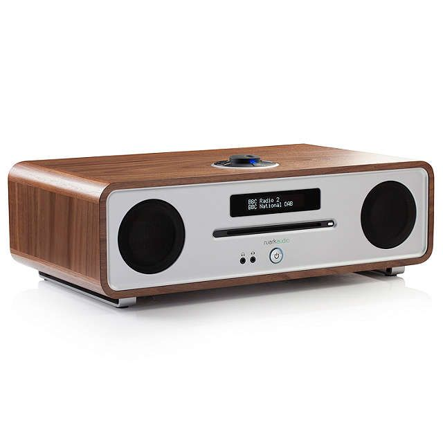 Ruark R4 MK3 DAB/DAB+/FM Radio & CD Bluetooth All-In-One Music System with OLED Display, White