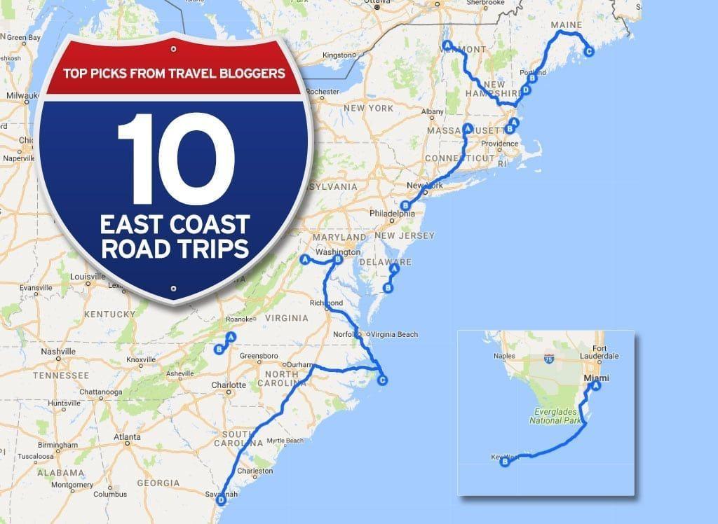 East Coast Of Florida Map.10 Fabulous East Coast Road Trips You Need To Take Road Trips