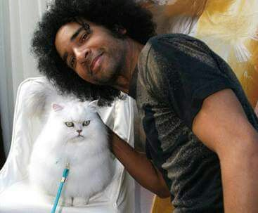 William and pretty kitty