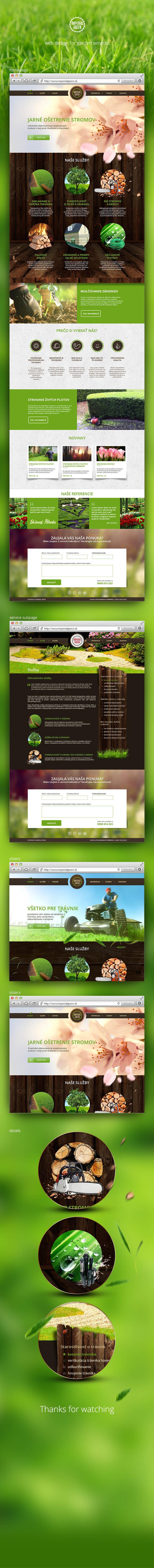 IMPERIAL GREEN - garden services website https://www.behance.net/gallery/16894805/IMPERIAL-GREEN-garden-services-website