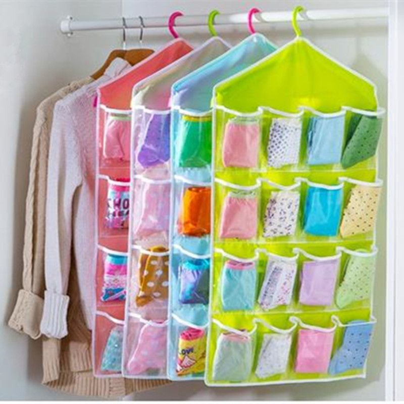 Foldable Wardrobe Hanging Bags Socks Briefs Organizer Clothing Hanger  Underpants Storage Bag Cosmetic Toy Underwear Storage Bag