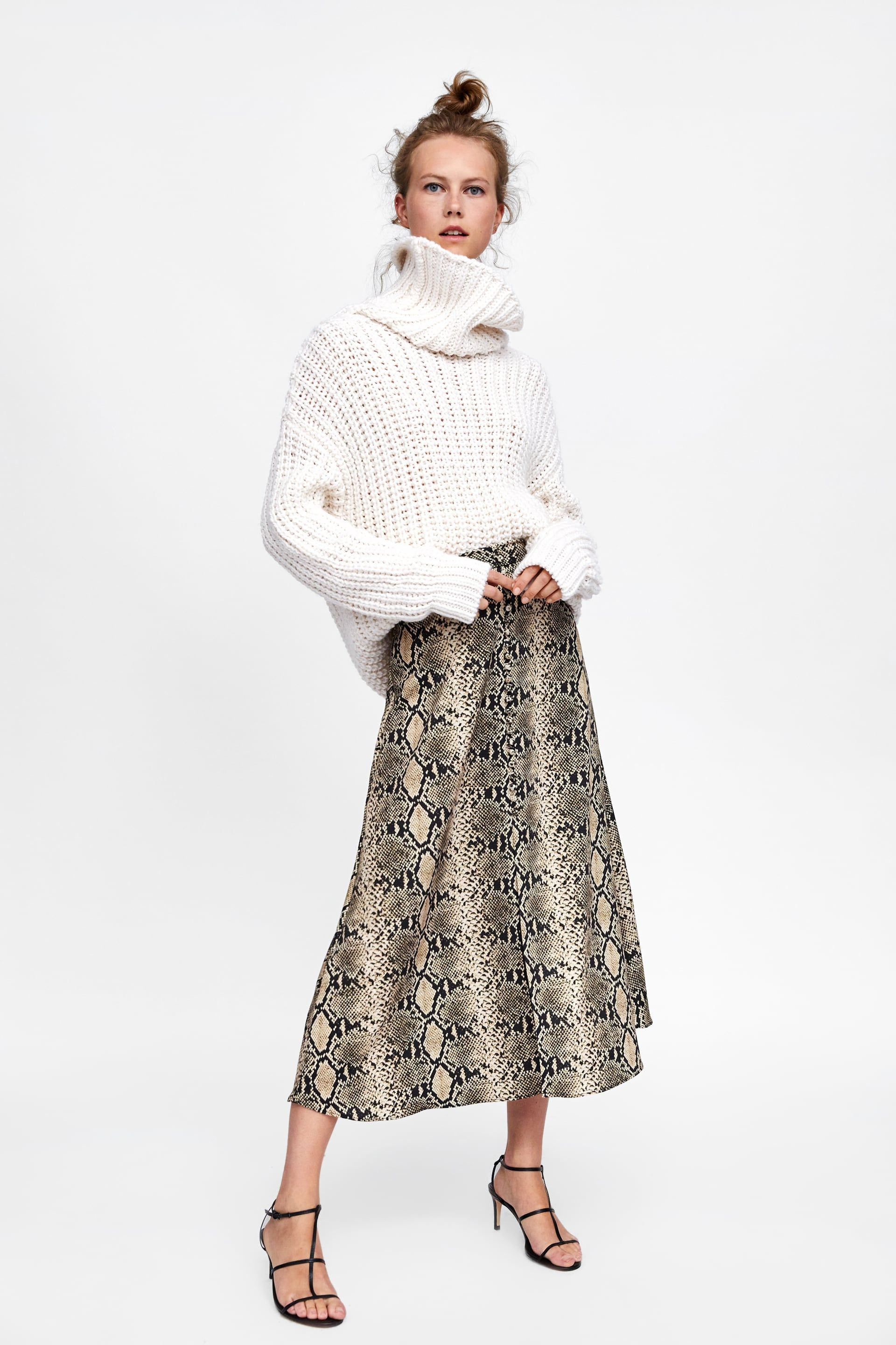 df321f4a8 FALDA ESTAMPADO SERPIENTE in 2019 | Wish List | Printed skirt outfit ...