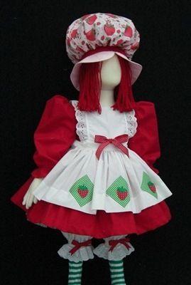 b0359331e78 Disfraz de Rosita Fresita para niña | Disfraces | Muñeca disfraz ...