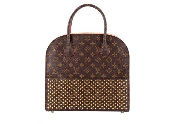 路易威登限量版Christian Louboutin的购物袋小牛毛和Monogram帆布