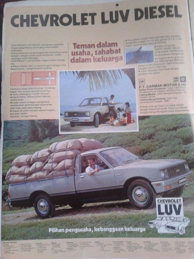 Brosure Chevrolet Luv Diesel 1980 Mobil Sahabat Teman