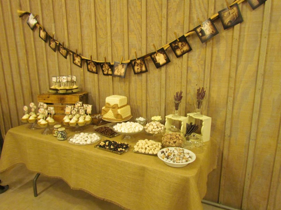 Vintage Themed 25th Anniversary Party Dessert Table By Tamara C 25th Wedding Anniversary Party Wedding Anniversary Party Anniversary Parties