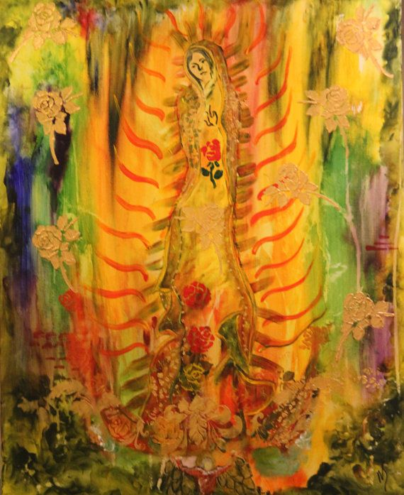 Our Lady of Guadalupe by MarieStarkART on Etsy, $225.00