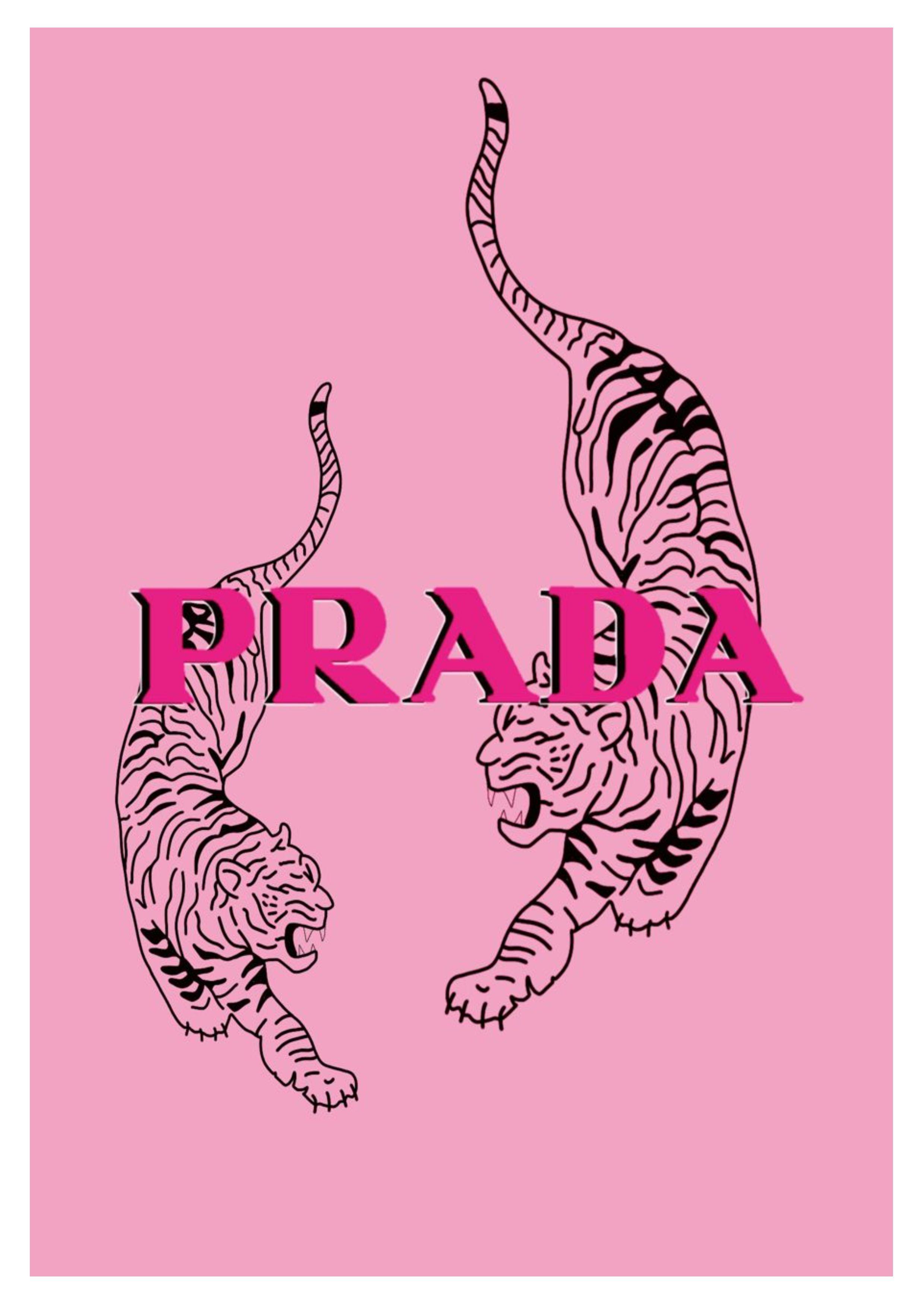 Prada Poster   A4/A5/DIGITAL   Vintage Prada Fashion Magazine Cover Art Print Tiger Animal Framed
