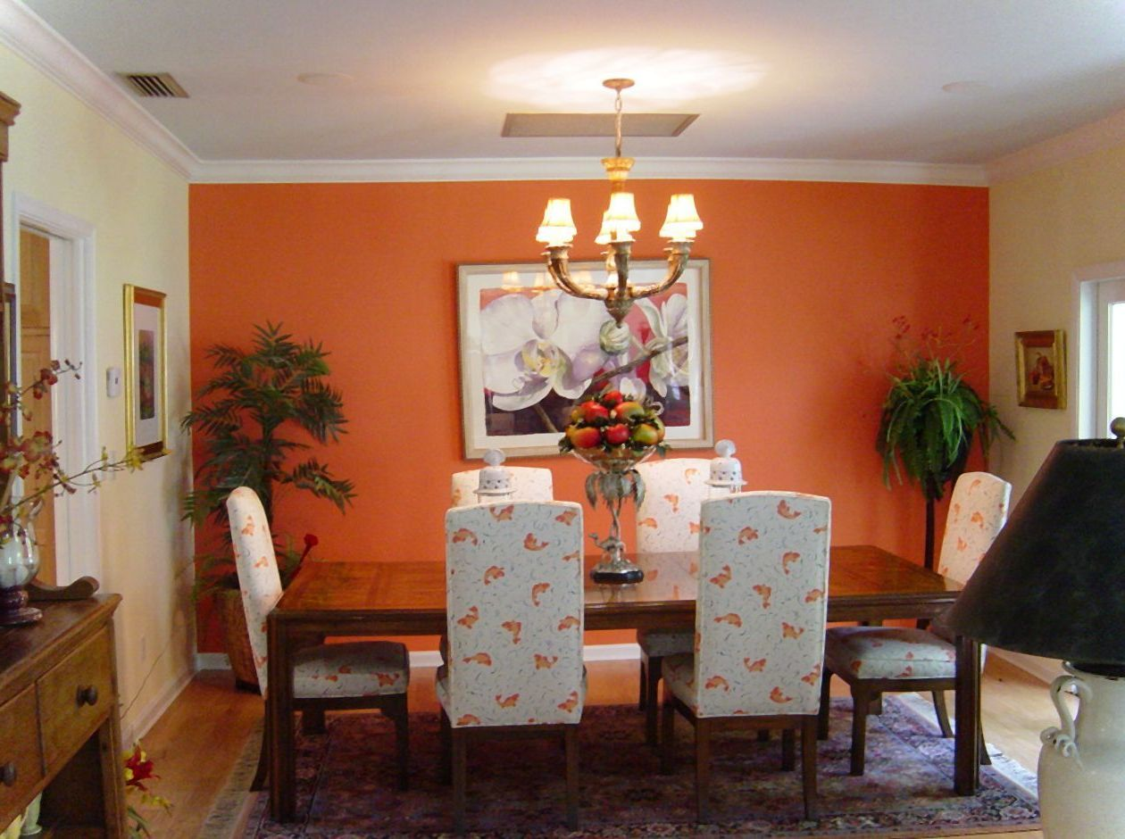 Room Orange Dining Color Ideas For Increasing Appetite