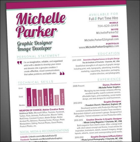 CV and Resume Design CV ideas Pinterest Simple resume examples
