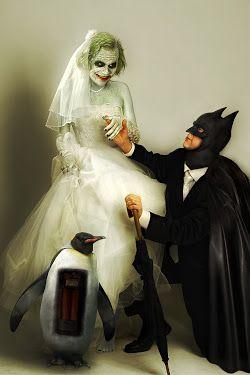 Joker and Batman Wedding
