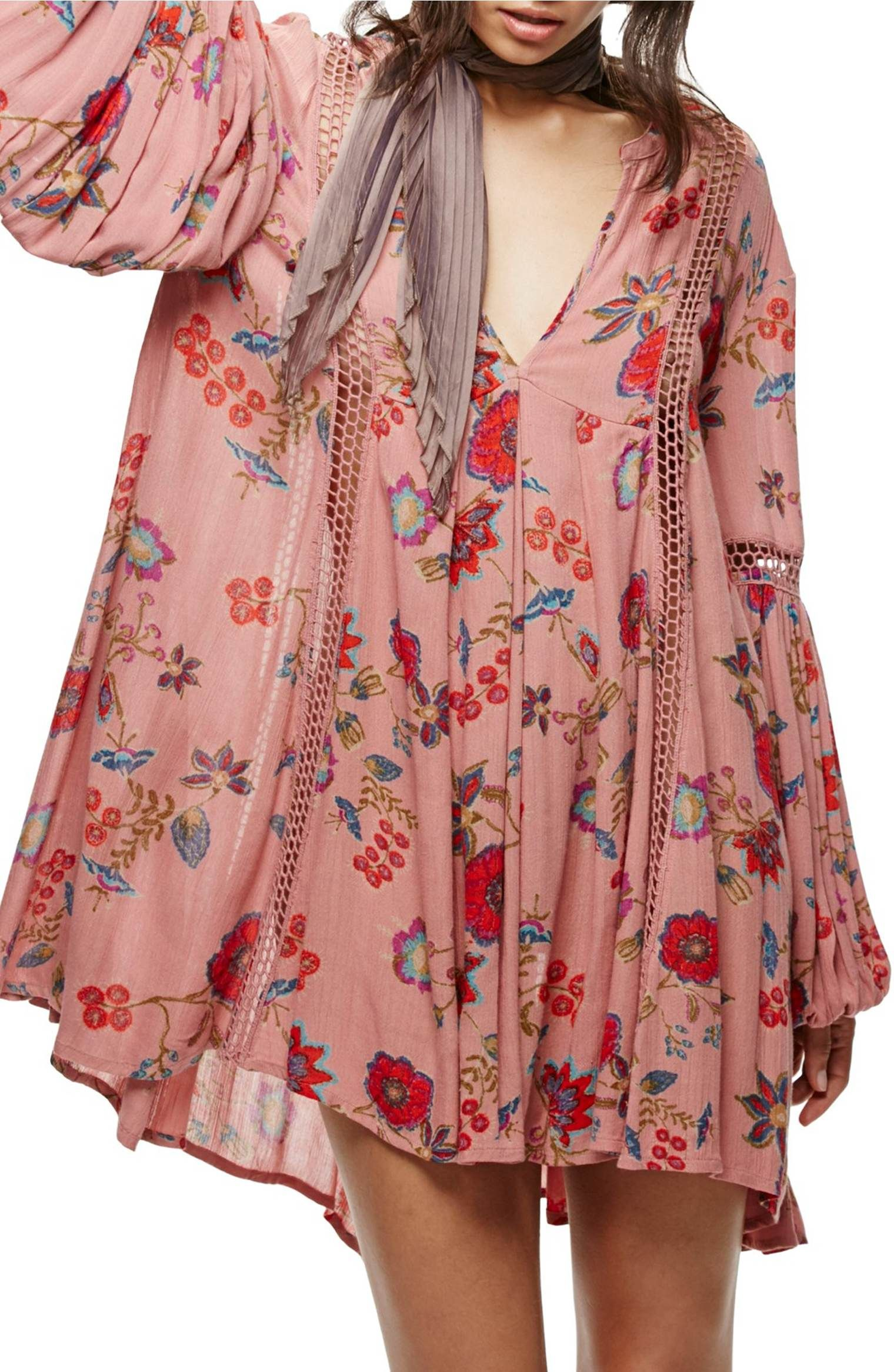 2f67a184880 Main Image - Free People Just the Two of Us Floral Tunic   street ...