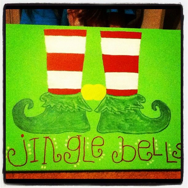 Christmas Sign For Classroom Door Mounted Canvas Used