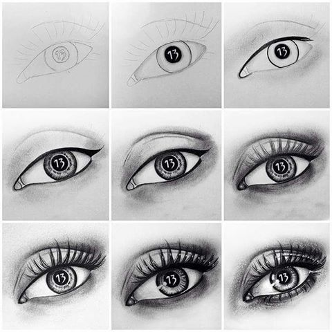 Aşamalı göz çizim tekniği.. Yapmanız gereken sıralamayı takip etmeniz..Sonuca siz de şaşıracaksınız... #charcoal #karakalem #çizim #tattoo #tattoodesign #design #image #eye #art #instadrawing #picture #realisticeye