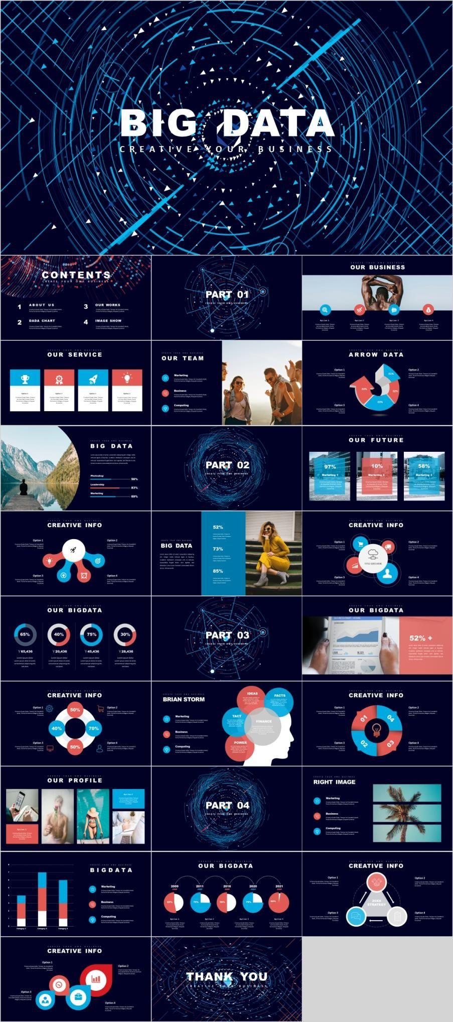 27 Best Big Data Report Powerpoint Template Big Data