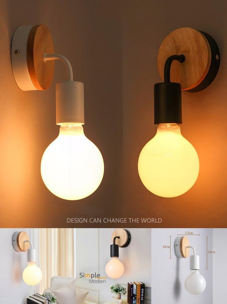 Visit to buy modern led wood wall lamp iron metal wall light