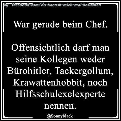 War Gerade Beim Chef Gollum Lustig Witzig Spruche Bild Bilder