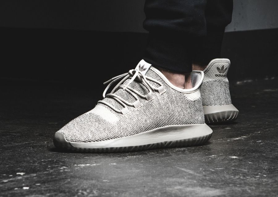 meet 8e4e5 42962 Adidas Tubular Shadow Knit Yeezy Moonrock Clear Brown