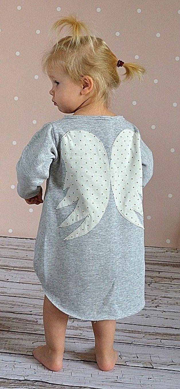 Wygodna Sukienka Z Motywem Anielskich Skrzydel Wykonana Z Przyjemnej Long Sleeve Dress Cold Shoulder Dress Dresses With Sleeves