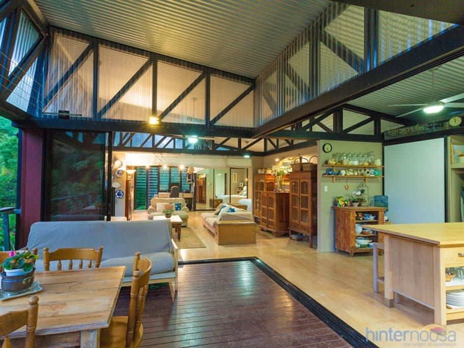 Entire Home Apt In Cooroy Australia Architectural Bright Amp Airy Studio Retreat Beside A Creek With Wide Billabongs Steep Cow P Renting A House