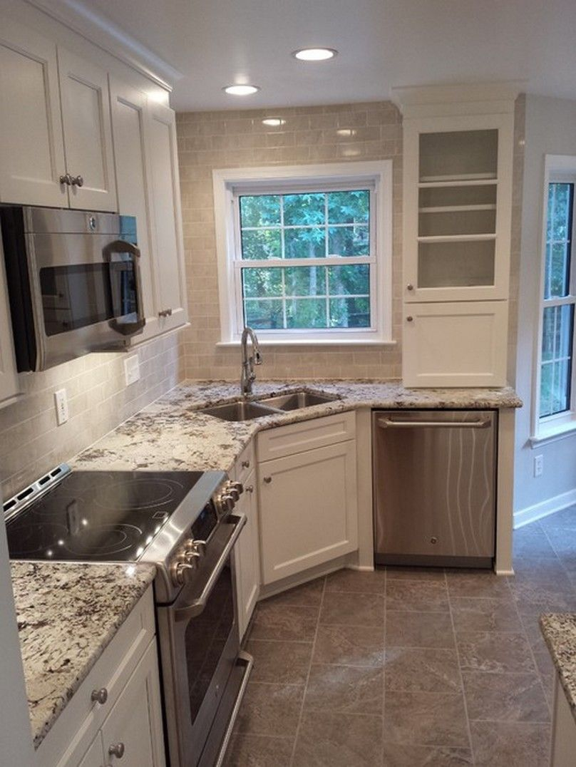 kitchen layouts with corner sinks