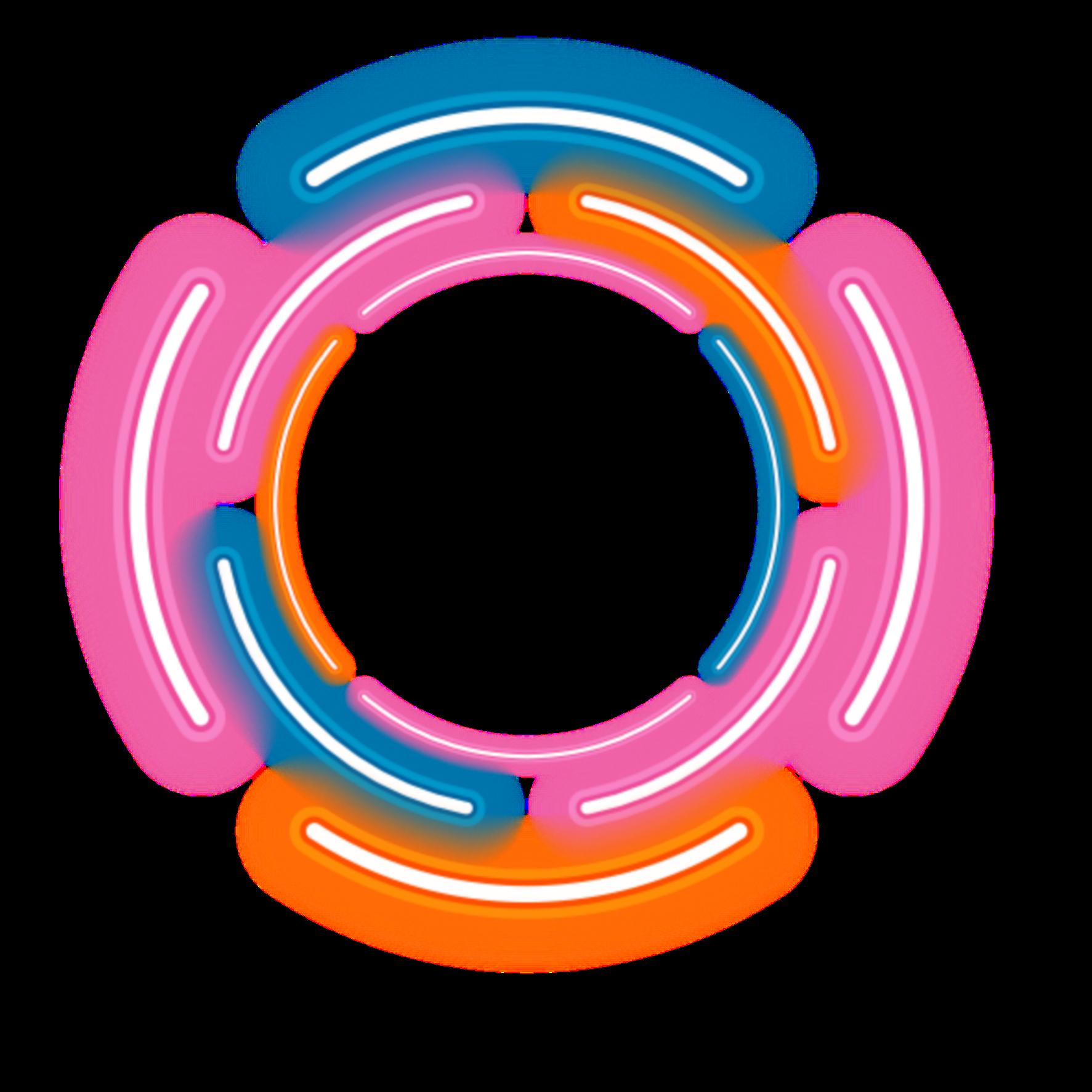 Neon Round Circle Rounds Yuvarlak Frame Frames Border Borders Geometric Geometry Figure Line Drawi Overlays Picsart Cartoon Wallpaper Hd Neon Png