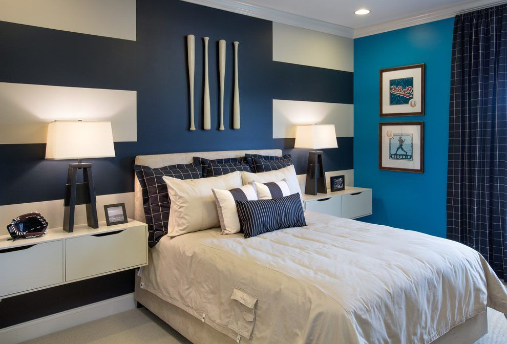Baseball Bat Ideas Bedroom Transitional With Paint Detail Polyester Kids Bedding Sets
