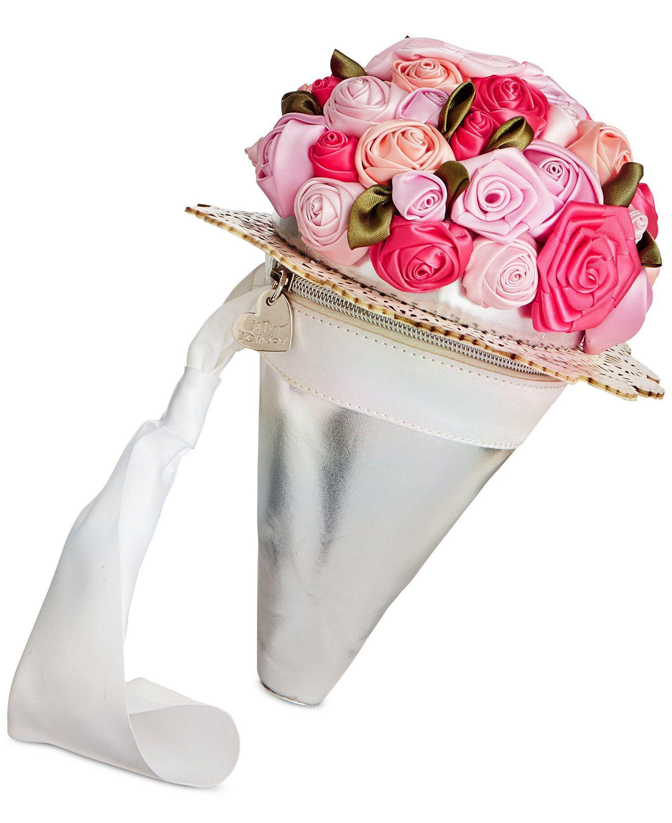 Blue By Betsey Johnson Bouquet Bag Wristlet Betsey Johnson
