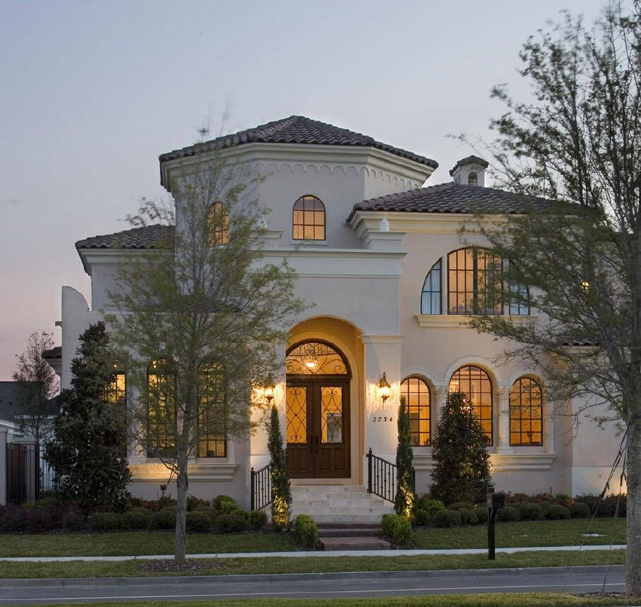 Traditional Simple Mediterranean House Plans Small Luxury Homes Starter Home With Bay Window In Pitts In 2020 Small Luxury Homes Mediterranean Homes Luxury House Plans