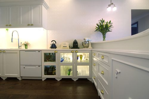 victorian open concept kitchen - done by KC Tan of INK Design --> To note.