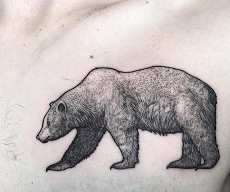Pin By Hiroki Fukunaga On En Chair Et En Encre Bear Tattoo Designs California Bear Tattoos Animal Tattoos