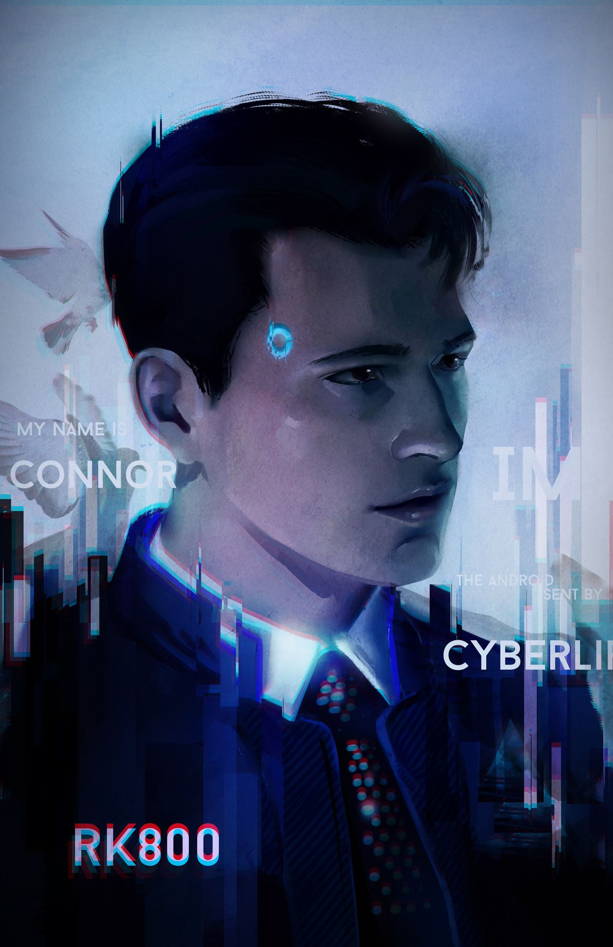 Download Detroit Become Human Connor Wallpaper Phone Gif