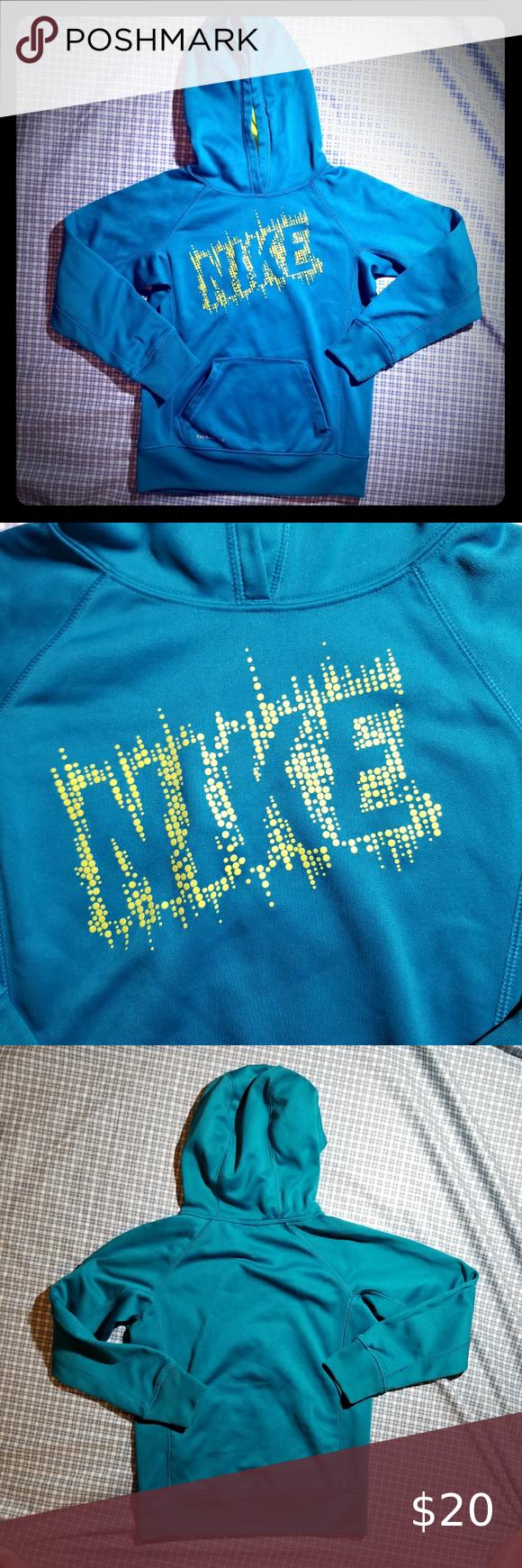 3 20 Nike Aqua Hoodie With Nike Graphic Girls M Blue Hoodie Girl M Hoodies [ 1740 x 580 Pixel ]