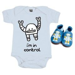 Robot Baby Gift Pack - Perfect for Christmas from the best Australian online store for boys! www.boyosaur.com.au