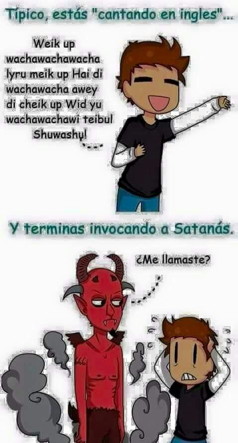 Cantar En Ingles Nivel Satanico Memes Humor Funny