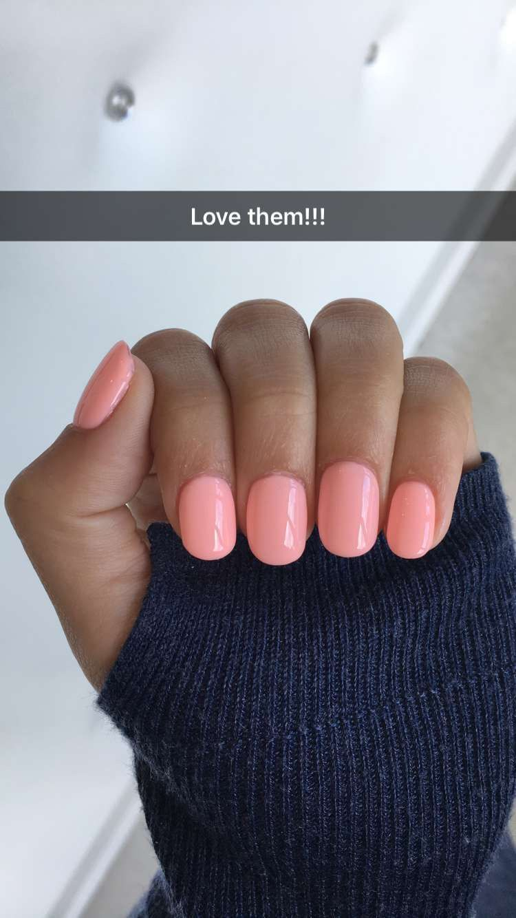 Obsessed!! Natural shape acrylic nails Color: Cool in California ...