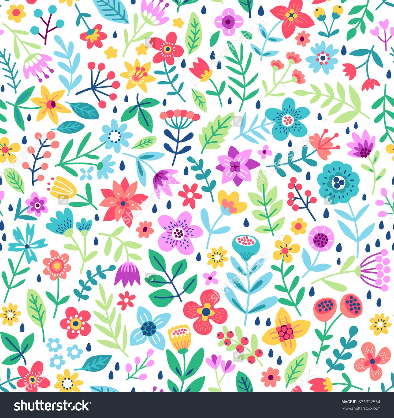 Yoga pattern background seamless pattern with five petals lotus flower - Cute Floral Pattern In The Small Flower Ditsy Print Motifs Scattered Random